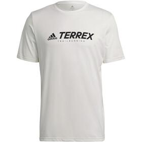 adidas TERREX Primeblue Trail Functional Logo Tee Men, wit/zwart